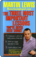 Cover of 'The Three Most Important Lessons' book by Martin Lewis