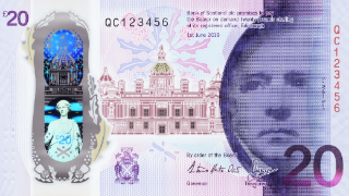 Bank of Scotland unveils new £20 note