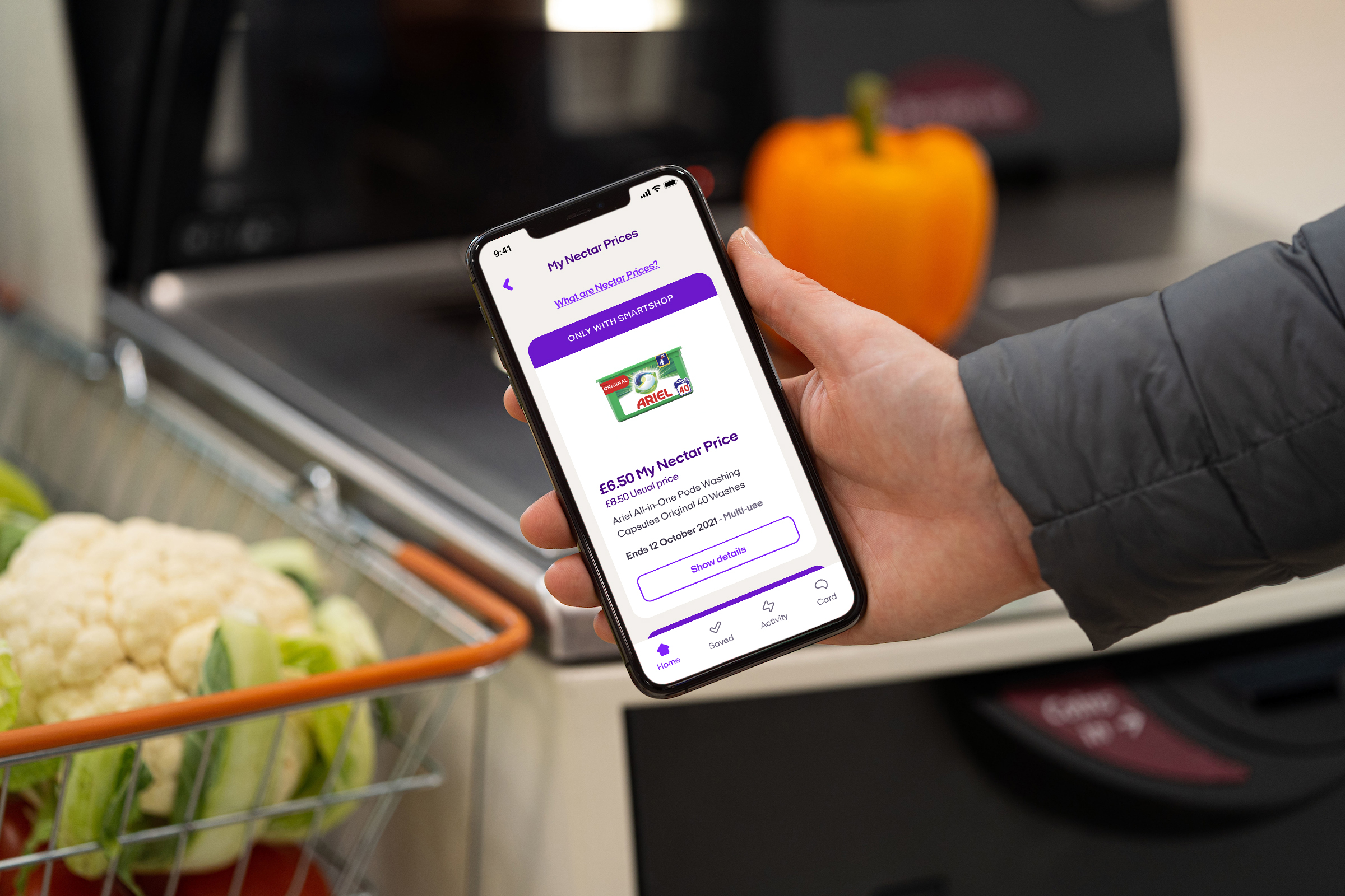 Nectar card holders can now get personalised discounts when they shop using Sainsbury's 'scan and go' service in stores