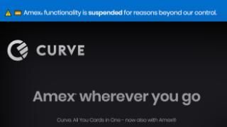 Amex blocks Curve 'all-in-one' debit card