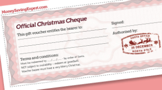 Free Christmas Gift Cheques
