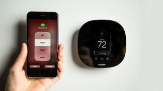 adjust heating with mobile app