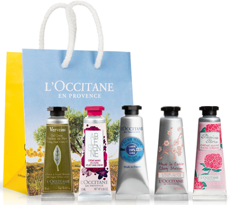5 for £5 L'Occitane hand creams