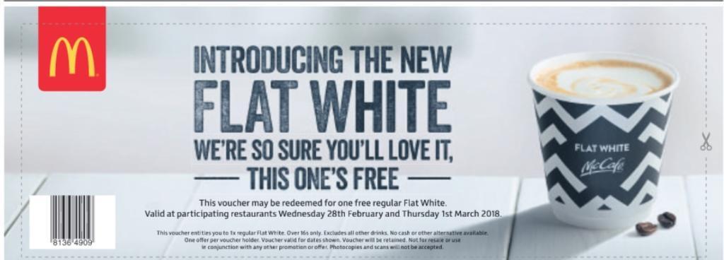 Mcdonalds discount codes promo sales money saving expert flat white voucher mcdonalds fandeluxe Gallery
