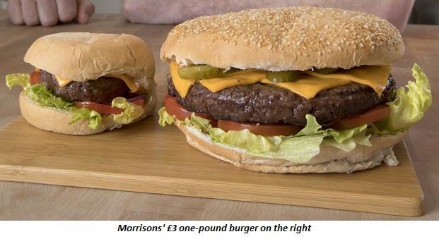 Morrisons one-pound burger