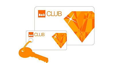 B&Q Diamond Club membership card