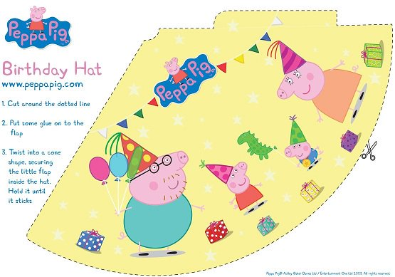 Peppa pig birthday pack hat