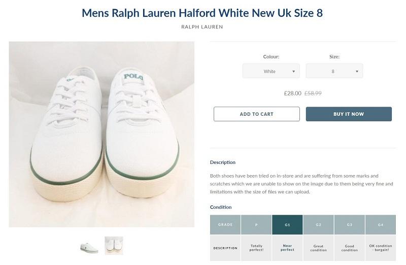 aa94fcfb7c Men's Ralph Lauren trainers* - £22.40 (£28 before the code, were £58.99)