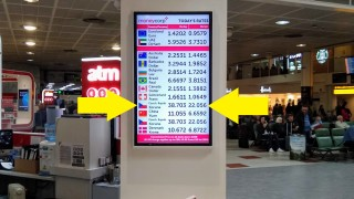 Czech koruna exchange rate at Gatwick.