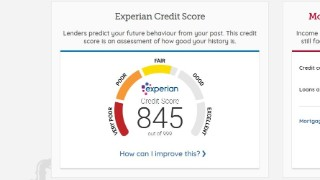 Experian Credit Score from Credit Club.