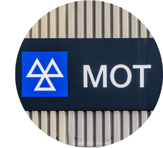 MOT test centre sign.