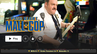 Review ratings of Paul Blart: Mall Cop on Netflix.