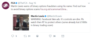 Martin Lewis binary trading: FAKE & LIAR ads