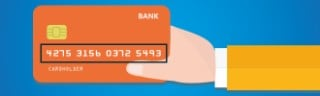 long number on credit card or debit card
