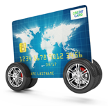 credit card on wheels