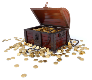 Treasure chest full of gold