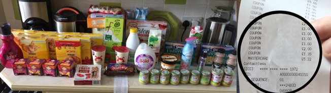 How I got £68 of shopping for £5 with coupons (and you can too)