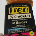 Buy £1.50 sauce, get 'free' Nando's chicken