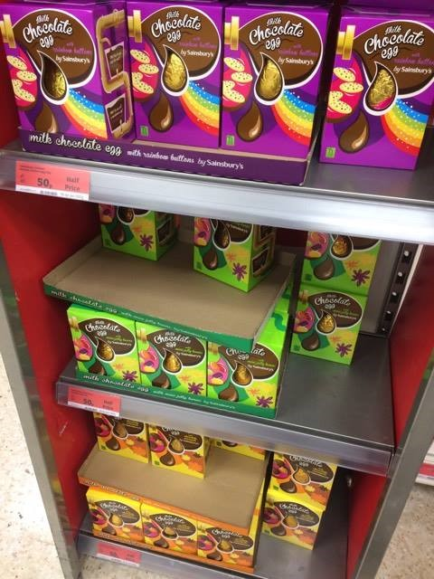Reduced chocolates at Sainsbury's