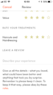 Treatwell hack    leave a review and get £5 off beauty
