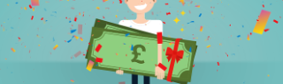 Win up to £1,000 with 10 FREE lotteries