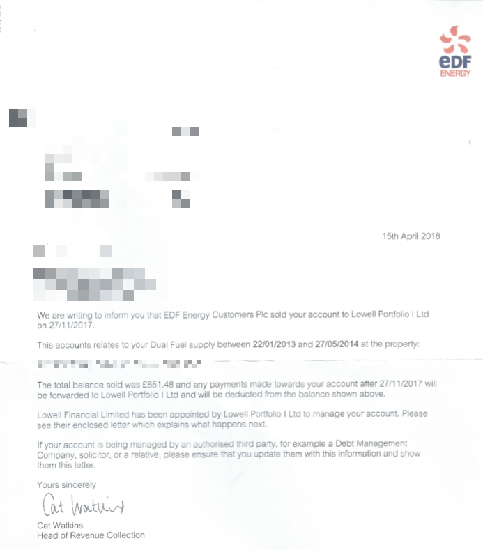 Hundreds of households wrongly chased for EDF debt