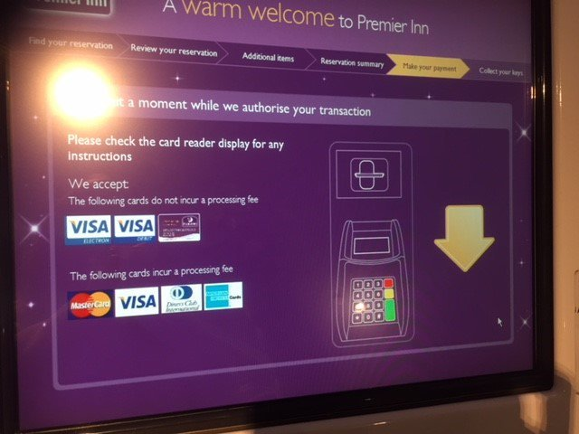 Some credit card users still charged fees after ban a sign in a premier inn at london euston also told customers that some cards including mastercard and visa would incur a processing fee colourmoves