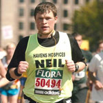 Me running the London Marathon in 2009