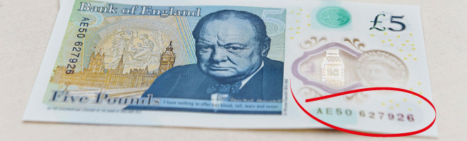 How to check if your new fiver's worth £100s