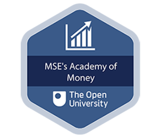 The badge you can earn for completing all six Academoney sessions - linking to where you can enrol on the course on the Open University's OpenLearn website